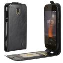 ULTRAFLIP-NOKIA1 - Etui Nokia-1 ultra-fin rabat vertical coloris noir logement carte
