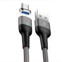 USAMS-U28USBC - Câble USB-C magnétique et renforcé nylon 1m charge et transfert de Usams