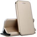 VEGA-GALS7EDGEGOLD - Etui Galaxy S7 Edge rabat latéral fonction stand coloris gold
