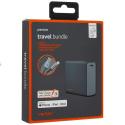 VENTEV-TRAVELBUNDLE - Batterie de secours iPhone Ventev Travel-Bundle avec son câble renforcé certifié Apple MFI