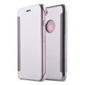WALLCLEAR-IP7GRIS - Etui iPhone 7 série View-Case avec rabat translucide coloris gris