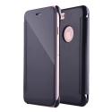 WALLCLEAR-IP7NOIR - Etui iPhone 7 série View-Case avec rabat translucide coloris noir