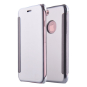 WALLCLEAR-IP7PLUSGRIS - Etui iPhone 7+ série View-Case avec rabat translucide coloris gris