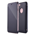 WALLCLEAR-IP7PLUSNOIR - Etui iPhone 7+ série View-Case avec rabat translucide coloris noir