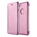 WALLCLEAR-IP7PLUSROSE - Etui iPhone 7+ série View-Case avec rabat translucide coloris rose