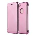 WALLCLEAR-IP7ROSE - Etui iPhone 7 série View-Case avec rabat translucide coloris rose