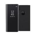 WALLCLEAR-IPXNOIR - Etui iPhone X série View-Case avec rabat translucide coloris noir