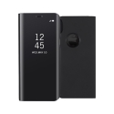 WALLCLEAR-IPXRNOIR - Etui iPhone XR série View-Case avec rabat translucide coloris noir
