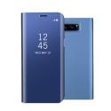 WALLCLEAR-NOTE8BLEU - Etui Galaxy-Note8 série View-Case avec rabat translucide coloris bleu