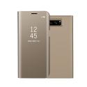 WALLCLEAR-NOTE8GOLD - Etui Galaxy-Note8 série View-Case avec rabat translucide coloris gold