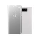 WALLCLEAR-NOTE8GRIS - Etui Galaxy-Note8 série View-Case avec rabat translucide coloris gris