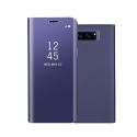 WALLCLEAR-NOTE8VIOLET - Etui Galaxy-Note8 série View-Case avec rabat translucide coloris violet