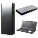 WALLCLEAR-S9NOIR - Etui Galaxy-S9 série View-Case avec rabat translucide coloris noir