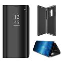 WALLCLEAR-S9PLUSNOIR - Etui Galaxy-S9 PLUS série View-Case avec rabat translucide coloris noir