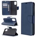 WALLET-A41BLEU - Etui Galaxy A41 bleu rabat latéral logements cartes fonction stand