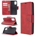 WALLET-A41ROUGE - Etui Galaxy A41 rouge rabat latéral logements cartes fonction stand