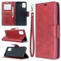 WALLET-A51ROUGE - Etui Galaxy A51 rouge rabat latéral logements cartes fonction stand