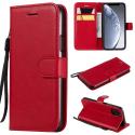 WALLET-IP11PROROUGE - Etui portefeuille iPhone-11 PRO coloris rouge rabat latéral articulé fonction stand
