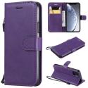 WALLET-IP11PROVIOLET - Etui portefeuille iPhone-11 PRO coloris violet rabat latéral articulé fonction stand