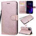 WALLET-IP11ROSEGOLD - Etui portefeuille iPhone-11 coloris rose gold rabat latéral articulé fonction stand