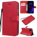 WALLET-IP11ROUGE - Etui portefeuille iPhone-11 coloris rouge rabat latéral articulé fonction stand