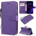 WALLET-IP11VIOLET - Etui portefeuille iPhone-11 coloris violet rabat latéral articulé fonction stand
