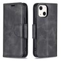 WALLET-IP13NOIR - Etui portefeuille iPhone-13 coloris noir rabat latéral articulé fonction stand