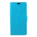 WALLET-IPXBLEU - Etui portefeuille iPhone-X coloris bleu rabat latéral articulé fonction stand