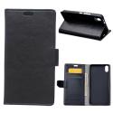 WALLET-IPXSMAXNOIR - Etui portefeuille iPhone-XS Max coloris noir rabat latéral articulé fonction stand