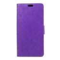 WALLET-IPXVIOLET - Etui portefeuille iPhone-X coloris violet rabat latéral articulé fonction stand