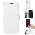 WALLET-MI8BLANC - Etui Xiaomi Mi-8 blanc avec rabat latéral et logements cartes