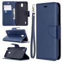 WALLET-NOKIA13BLEU - Etui Nokia 1.3 type portefeuille bleu avec logements cartes