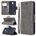 WALLET-NOKIA13GRIS - Etui Nokia 1.3 type portefeuille gris avec logements cartes