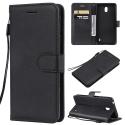 WALLET-NOKIA1PLUS - Etui Nokia 1 Plus type portefeuille noir avec logements cartes