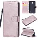 WALLET-NOKIA1PLUSROSE - Etui Nokia 1 Plus type portefeuille rose avec logements cartes