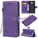 WALLET-NOKIA1PLUSVIOLET - Etui Nokia 1 Plus type portefeuille violet avec logements cartes
