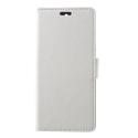 WALLET-NOKIA51BLANC - Etui Nokia 5.1 type portefeuille blanc avec logements cartes