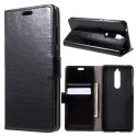 WALLET-NOKIA51NOIR - Etui Nokia 5.1 type portefeuille noir avec logements cartes