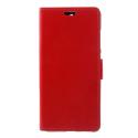WALLET-NOKIA51ROUGE - Etui Nokia 5.1 type portefeuille rouge avec logements cartes