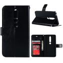 WALLET-NOKIA61NOIR - Etui Nokia 6.1 type portefeuille noir avec logements cartes
