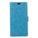 WALLET-NOKIA6BLEU - Etui Nokia 6 type portefeuille bleu avec logements cartes