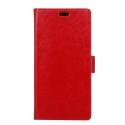 WALLET-NOKIA6ROUGE - Etui Nokia 6 type portefeuille rouge avec logements cartes