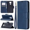 WALLET-REDMINOTE9BLEU - Etui Redmi Note 9 bleu avec rabat latéral et logements cartes