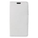 WALLET-SUNNY2BLANC - Etui Wiko Sunny-2 rabat latéral blanc type portefeuille avec logements cartes