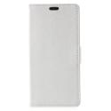 WALLET-SUNNY2PLUSBLANC - Etui Wiko Sunny-2-PLUS rabat latéral blanc type portefeuille avec logements cartes