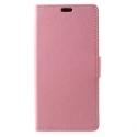 WALLET-SUNNY2PLUSROSE - Etui Wiko Sunny-2-PLUS rabat latéral rose type portefeuille avec logements cartes