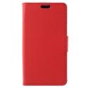 WALLET-SUNNY2ROUGE - Etui Wiko Sunny-2 rabat latéral rouge type portefeuille avec logements cartes