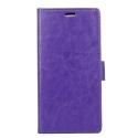 WALLET-XPXA2VIOLET - Etui Xperia XA2 violet rabat latéral fonction stand logements cartes