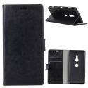 WALLET-XZ3NOIR - Etui type portefeuille noir pour Sony Xperia XZ3 avec rabat latéral fonction stand