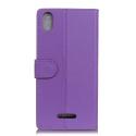 WALLET-Y60VIOLET - Etui portefeuille Wiko Y60 rabat latéral violet logements cartes